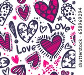 abstract seamless love pattern. ... | Shutterstock .eps vector #658969294