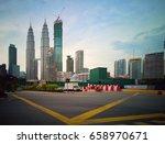 Small photo of KUALA LUMPUR, MALAYSIA - 13 June 2017 :View of Kuala Lumpur city centre along the lines of road.