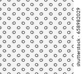 seamless pattern of rings.... | Shutterstock .eps vector #658982029