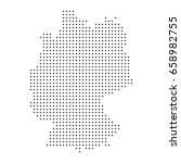vector dotted map of germany. | Shutterstock .eps vector #658982755