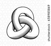 triple mobius loop impossible... | Shutterstock . vector #658985869