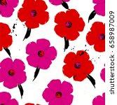 floral seamless pattern...   Shutterstock .eps vector #658987009