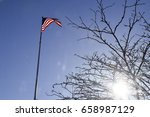 american flag stars and stripes ... | Shutterstock . vector #658987129