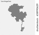 los angeles map. city of the... | Shutterstock .eps vector #658990639