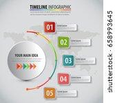 5 steps vector circle... | Shutterstock .eps vector #658993645