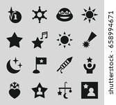 star icons set. set of 16 star... | Shutterstock .eps vector #658994671