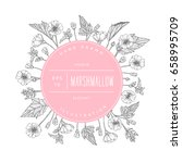 vector hand drawn floral round... | Shutterstock .eps vector #658995709