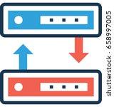 data transfer vector icon  | Shutterstock .eps vector #658997005