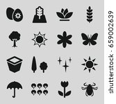 spring icons set. set of 16... | Shutterstock .eps vector #659002639