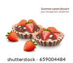 delicious sweets and desserts... | Shutterstock .eps vector #659004484
