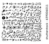 hand drawn arrow   Shutterstock .eps vector #659006011