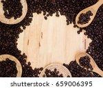 coffee beans in basket weave...   Shutterstock . vector #659006395