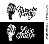 karaoke hand written lettering... | Shutterstock .eps vector #659006641