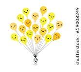 vector illustration of bunch of ... | Shutterstock .eps vector #659008249