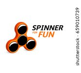 spinner logo design.... | Shutterstock .eps vector #659010739