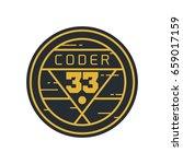 retro badge graphic logo emblem ...   Shutterstock .eps vector #659017159