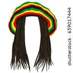 Jamaican Rasta Hat.hair...