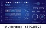 futuristic user interface.... | Shutterstock .eps vector #659025529