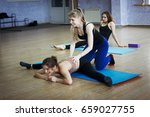 group training in a gym of a... | Shutterstock . vector #659027755