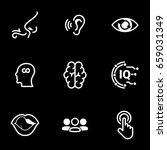 set of simple icons on a theme... | Shutterstock .eps vector #659031349