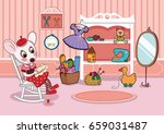cartoon character in a sewing... | Shutterstock .eps vector #659031487