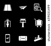 set of simple icons on a theme... | Shutterstock .eps vector #659031499