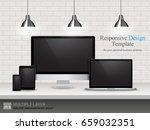 realistic computer  laptop ... | Shutterstock .eps vector #659032351
