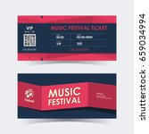 music festival ticket card....   Shutterstock .eps vector #659034994