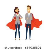 business people   colored... | Shutterstock .eps vector #659035801