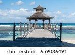 wooden arbour with bridge near... | Shutterstock . vector #659036491