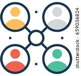 organization vector icon  | Shutterstock .eps vector #659036824