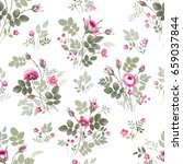 seamless floral pattern with... | Shutterstock .eps vector #659037844