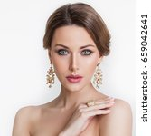 beauty. beautiful bride.... | Shutterstock . vector #659042641