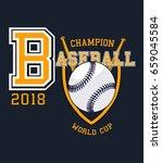 baseball sport graphic | Shutterstock .eps vector #659045584
