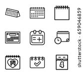 appointment icons set. set of 9 ... | Shutterstock .eps vector #659046859