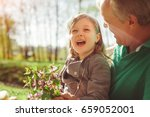 cute little girl holding... | Shutterstock . vector #659052001