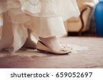 bride's shoes | Shutterstock . vector #659052697