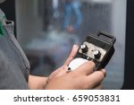 worker turn control button for... | Shutterstock . vector #659053831