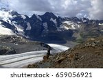 Small photo of Visiting the beautiful She-devil - Fabulous view of Monteratch glacier and Bernina ridge from Diavolezza Mountain, Switzerland
