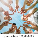group of people together... | Shutterstock . vector #659058829