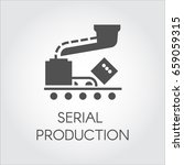 black icon of serial production ... | Shutterstock .eps vector #659059315