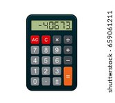 Calculator  Realistic Vector...