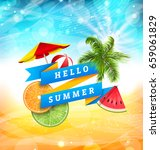 summer fun poster design with... | Shutterstock .eps vector #659061829