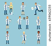 hospital medical staff  set of...   Shutterstock .eps vector #659062255