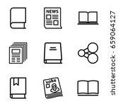 publish icons set. set of 9... | Shutterstock .eps vector #659064127