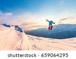 good skiing in the snowy... | Shutterstock . vector #659064295