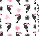 seamless toucans pattern....   Shutterstock .eps vector #659064439