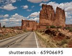 Arches national Park Scenic Drive - stock photo