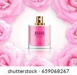 perfume ads template. perfume... | Shutterstock .eps vector #659068267