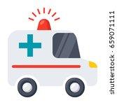 ambulance car  vector... | Shutterstock .eps vector #659071111
